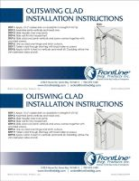 Outswing Clad Installation Instructions