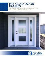 Pre-Clad Entry Door Frame Sell Sheet
