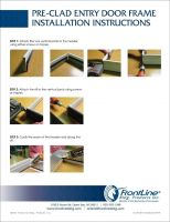 Pre-Clad Entry Door Frame Install Instructions
